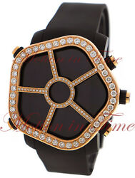 Jacob And Co Ghost Watch Digital Lcd Screen Rose Gold Diamond Bezel Black Pvd 47mm