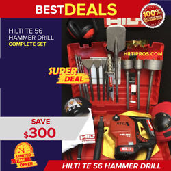 Hilti Te 56 Atc Hammer Drill Great Cond. Free Knifebits Extras Quick Ship