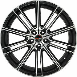 4 GWG Wheels 20 inch Black Machined FLOW Rims fits CHEVY IMPALA 2000 - 2013