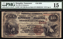 10 1882 Brown Back National Bank Of Commerce Memphis, Tennessee Ch 5056 Rare