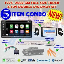 1995-2002 Gm Full Size Truck And Suv Double Din Car Stereo Installation Dash Kit Z