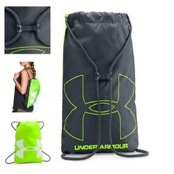 NEW Under Armour Ozsee Sackpack Backpack For Men Women Hyper GreenGrayOne Size