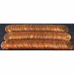 1963-d 1964 1964-d Rolls Of 50 Uncirculated Pennies 150 Total - Free Ship Usa