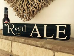 Real Ale Sign Beer Vintage Old Look Party Bbq Pub Hotel Bar Man Cave Drinks