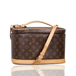 Louis Vuitton 2013 Nice Monogram Beauty Cosmetic Hard Case Crossbody Bag