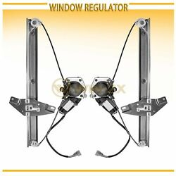 2pc Front Left+Right Power Window Regulator w Motor Fit 92-96 Camry SedanWagon