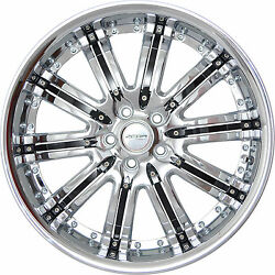 4 GWG Wheels 20 inch Chrome Black NARSIS Rims fits CHEVY IMPALA 2000 - 2013