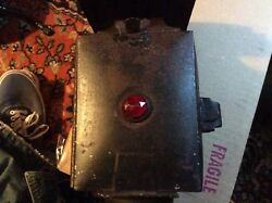 Antique Car Lantern With Side Mount And Red Jewel Works