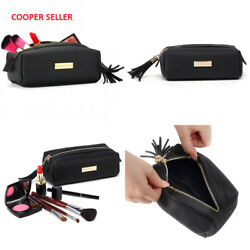 Small Makeup Bag YM&COCO Cosmetic Bag for Purse Pencil Case Pouch Leather...