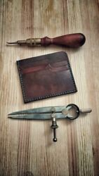Cool Genuine Leather Handmade Business Credit Card Holder ID Clip
