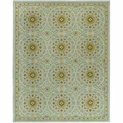 Safavieh Chelsea Kina Teal / Green Wool Area Rug 7and039 9 X 9and039 9