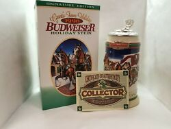 1998 Budweiser Holiday Beer Stein Signature Edition