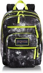 Nwt Jansport Big Student Backpack Book Bag Overexposed Black Galaxy T75k02d