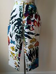 Iceberg Womens Pants Jeans Multicolored Floral Print Size 46/3d