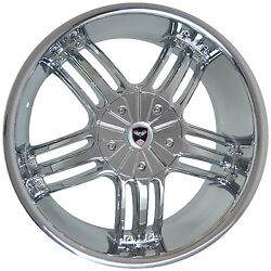 4 GWG Wheels 20 inch Chrome SPADE Rims fits CHEVY IMPALA 2000 - 2013