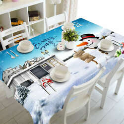 Winter Gloves 3d Tablecloth Table Cover Cloth Rectangle Wedding Party Banquet