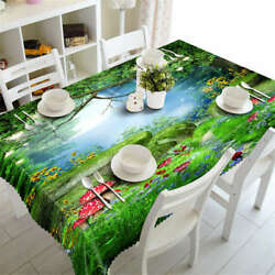 In Wonderland 3d Tablecloth Table Cover Cloth Rectangle Wedding Party Banquet