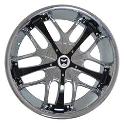 4 GWG Wheels 18 inch Chrome Black SAVANTI Rims fits CHEVY IMPALA 2000 - 2013