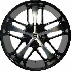 4 GWG Wheels 20 inch Black Machined SAVANTI Rims fits CHEVY IMPALA 2000 - 2013