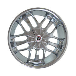 4 GWG Wheels 20 inch Chrome SAVANTI Rims fits CHEVY IMPALA 2000 - 2013