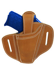 New Barsony Ambidextrous Tan Leather Pancake Holster 380 Ultra Compact 9mm 40