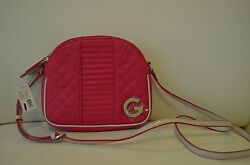 NWT G by Guess Women's Quilted Amil Mini Crossbody Purse  Shoulder Bag in Pink