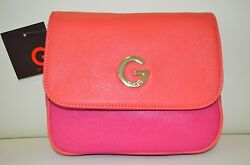NWT G by Guess Women's Arielle Small Cross-Body Purse  Shoulder Bag in Pink