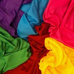 Interlock Lining Poly Stretch Fabric 70 Denier 60 Wide Sold Bty Many Colors