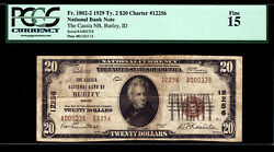 20 1929 The Cassia National Bank Of Burley Idaho Ch 12256 Only 13 Small No Lrg
