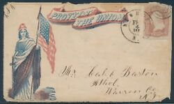 Colombia W/ Flag And Sword Protect The Union Patriotic Cover Newport, Ny Bu1651
