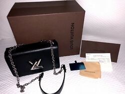 Louis Vuitton Twist MM Handbag With Matching Wallet And Boxes and Store Receipt*