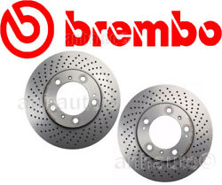 Set of 2 BREMBO Front  Brake Rotors for Porsche 911 Boxster Cayman