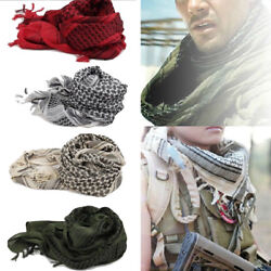 Mens Keffiyeh Shemagh Army Military Tactical Arab Desert Scarf Head Wrap Fast US