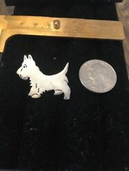 Vintage STERLING SILVER SCOTTIE DOG PIN BROOCH SCOTTY Scottish Terrier 8g