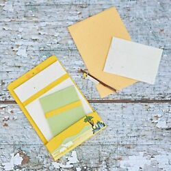 Yellow A5 Elephant Dung Letter Writing Stationary Set Recycled Paper And Envelopes