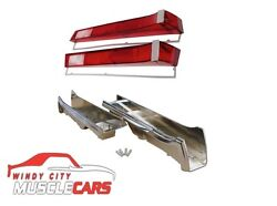1968-69 Amc Amx / Javelin Tail Light Bezels And Lenses And Gaskets Kit