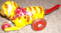 Marx Usa Orange Tiger Cat Lever Action Tail Windup Toy From Estate Collection