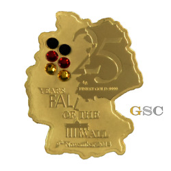 Cfa 2014 5000 Francs 25 Years Fall Of The Berlin Wall .999 Fine Gold Coin