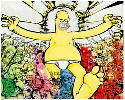 Mahfood And Kofie The Simpsons Characters Homer Underwear Abstract Modern Fine Art
