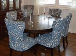 Pottery Barn Dining Table And 7 Pier One Dining Chairs - Gorgeous Set