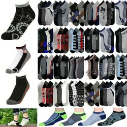 Menand039s Mixed Assorted Design Ankle Quarter Low Cut Socks Wholesale Lot Size 10-13