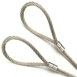 Custom Cut 1ft-70ft Stainless Steel 304 3/32in Core 7x19 Construction Cable Rope