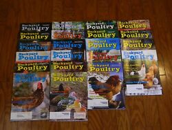 LOT of 21 Issues BACKYARD POULTRY MAGAZINE - RAISING CHICKENS - SMALL FARM
