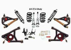 1964-72 A-body Ride Height Adjustable Front And Rear Coil Overs And Tubular Arms