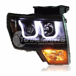 Headlights For 2009-2012 Ford raptor F150 assembly Bi-Xenon Lens Double Beam HID