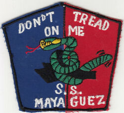 Wartime S.s. Mayaguez Don't Tread On Me Patch, Us Navy 1617