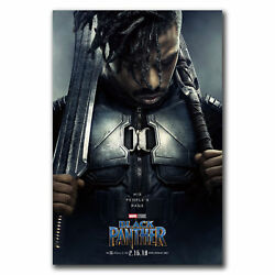 E2839 Art Black Panther DC Marvel Movie 2018 Poster Hot Gift -24x36 40inch