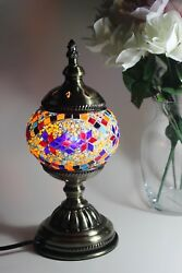 New Traditional Turkish Handmade Mosaic Table Desk Bedside Night Accent Lamp A4