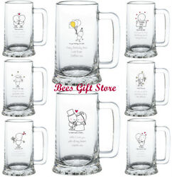PERSONALISED Novelty CRYSTAL PINT Glass TANKARDS Gifts Gift Ideas for Her Him