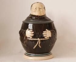 Antique German Character Beer Stein - Monk By Merkelbach And Wick C.1890 1